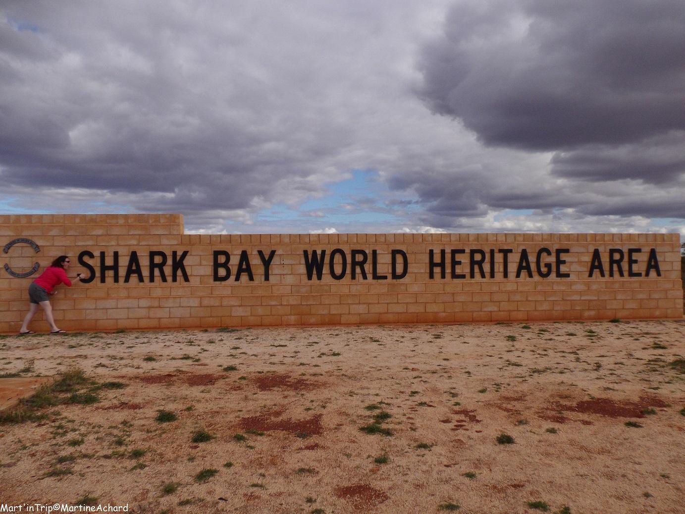 shark bay côte ouest australie